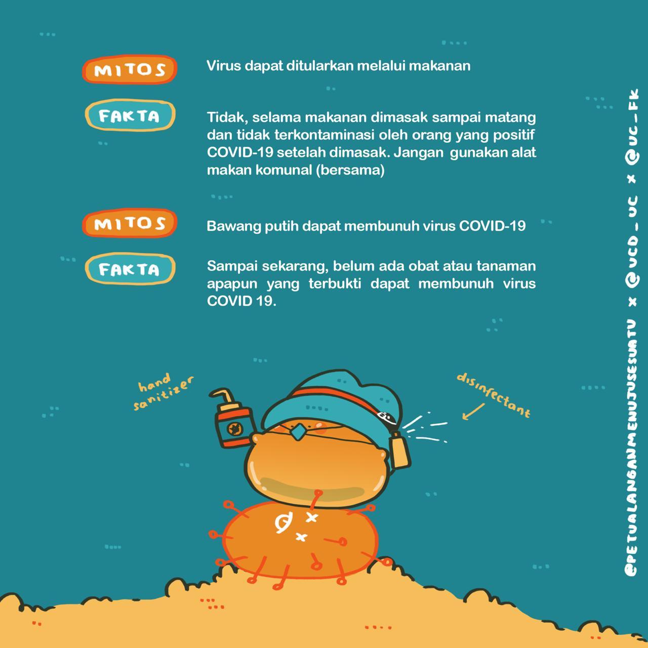 Gejala, MItos, dan Fakta Covid-19 : Kolaborasi PMS, VCD UC, dan FIK UC