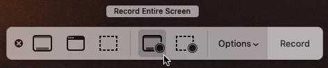 Screen Recording Control Menu